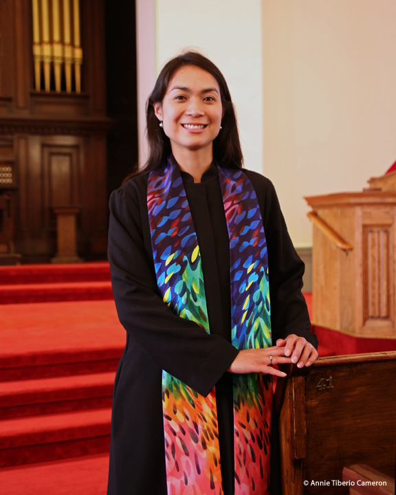Rev. Joan Javier-Duval in the Sanctuary