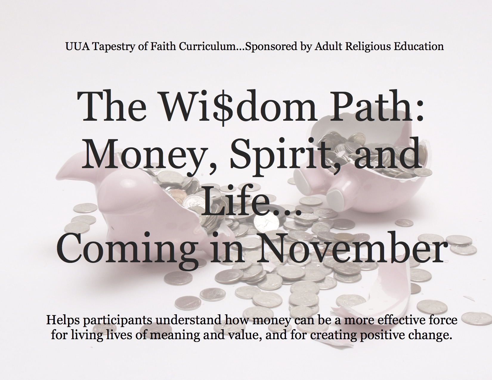 The Wisdom Path: Money, Sprit and Life...Coming in November