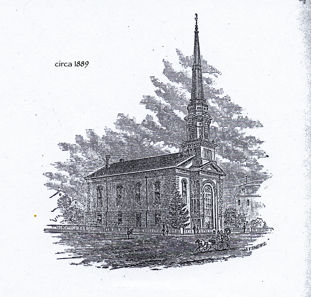 Sketch of the church, circa 1889