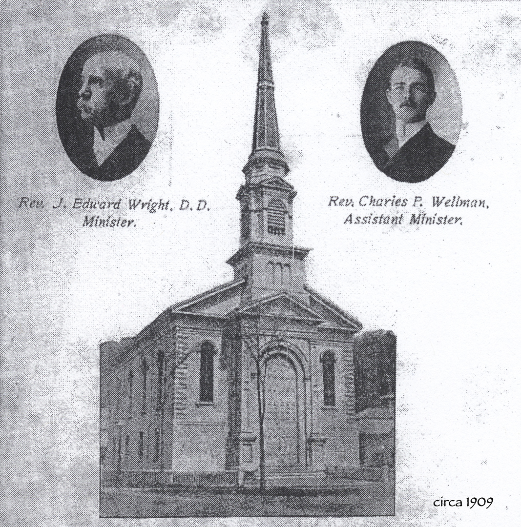 Reverend J. Edward Wright, D.D., Minister and Reverend Charles P. Wellman, Assistant Minister, circa 1909