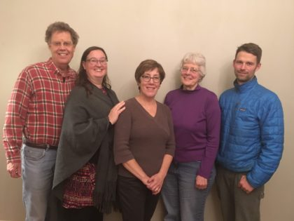 Committee on Ministry 2018-2019 (L to R: Bob Hawk, Rocky Kelley, Danette Fuller, Deb Robinson, Dustin Rand)